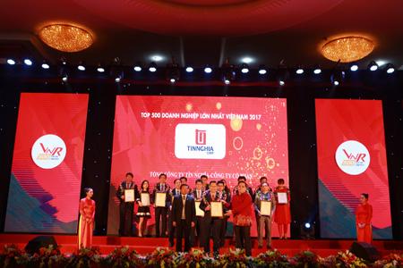 Tổng Công ty Tín Nghĩa nằm trong TOP 500 Doanh nghiệp có lợi nhuận tốt nhất Việt Nam năm 2017