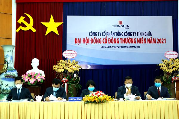 Tổng Công ty Tín Nghĩa tổ chức thành công Đại hội đồng Cổ đông thường niên năm 2021